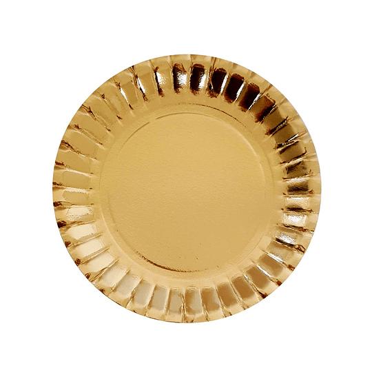 Mini Plato Dorado 13Cm 24 Uni