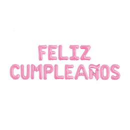 """Globo Letras Rosadas """"Feliz Cumpleaños"""" 1 Uni"""