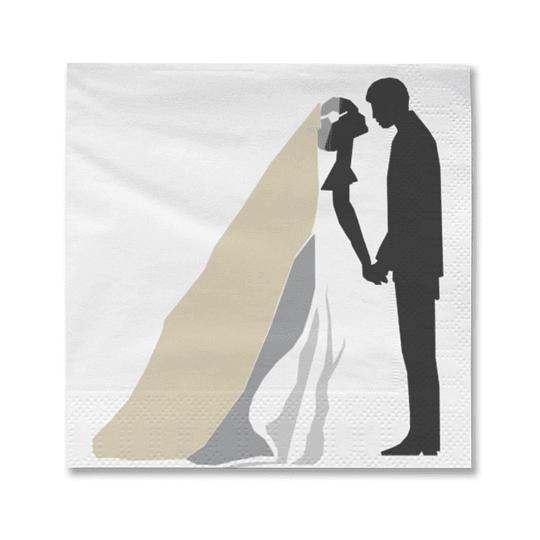 Servilleta Pareja Matrimonio 20 Uni