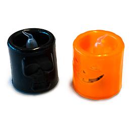 Mini Vela Luminosa Halloween Colores Surtidos 1 Uni