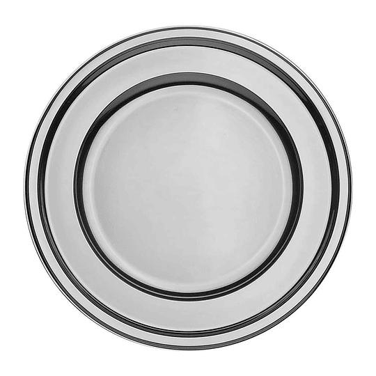 Plato Plastico 23 Cm Metal Plata 10 Uni