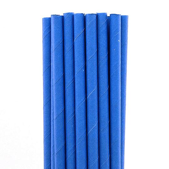 Bombilla Papel Azul 24 Uni