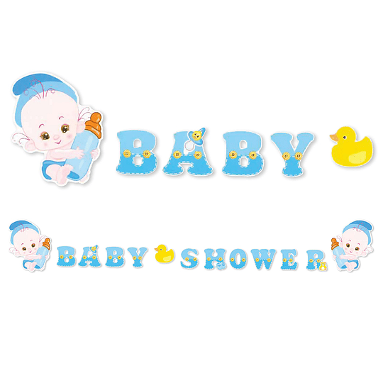 Guirnalda Baby Shower Niño 1 Uni