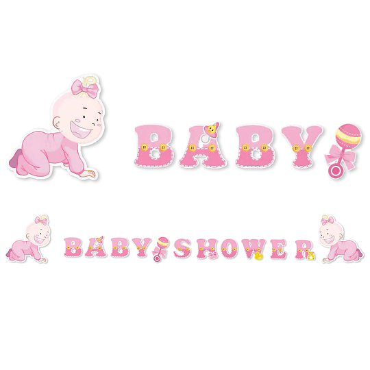 Guirnalda Baby Shower Niña 1 Uni