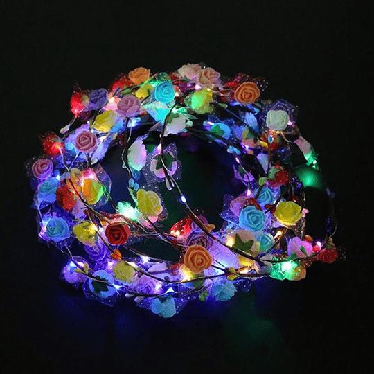 Cintillo Flores C/Luz 1 Uni