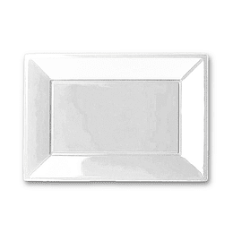 Bandeja Rectangular Blanco 3 Uni
