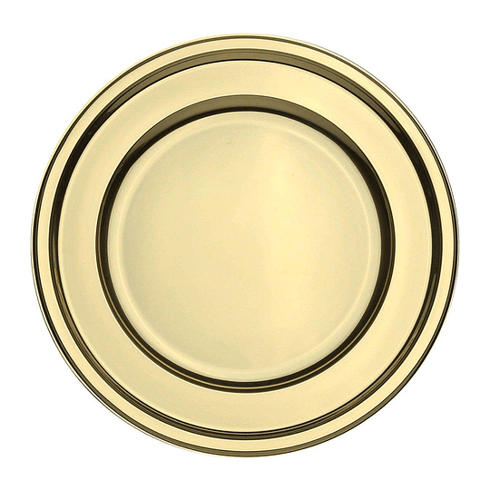 Plato Plastico 23 Cm Metal Oro 10 Uni
