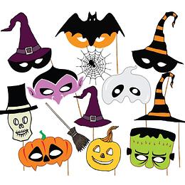 Accesorios Para Fotos Halloween 13 Uni