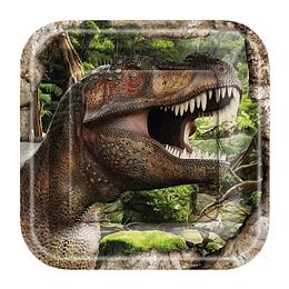 Platos Dinosaurios 6 Uni