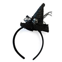 Cintillo Bruja Negro Cinta/Craneo 1 Uni