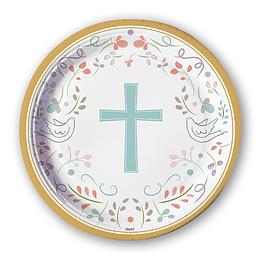 PLATO RELIGIOSO CRUZ 6 UNI
