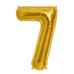 Globo 81Cm Numero 7 Dorado 1 Uni