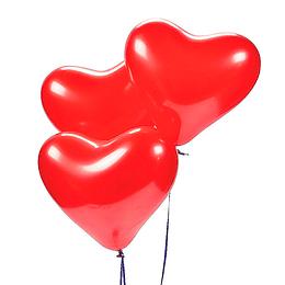 Globo Liso Rojo Forma Corazon 6 Uni