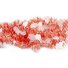 Guirnalda Plastica Fantasmas Naranjo/Negro 2 Mt 1 Uni