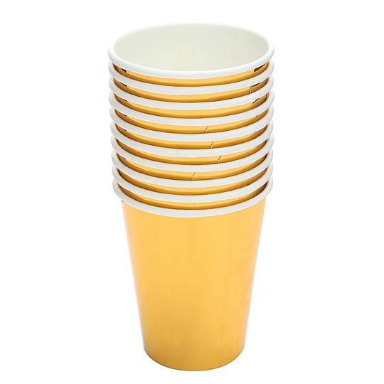 Vaso Metal Effect Dorado 6 Uni