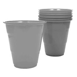 Vaso Plastico 350Cc Plateado 10 Uni