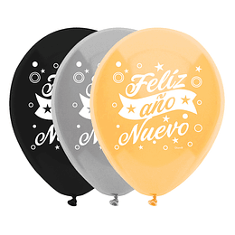 Globo #12 Feliz Año Nuevo 12 Uni