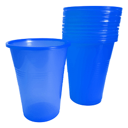 Vaso Plastico Azul 300 Cc 50 Uni