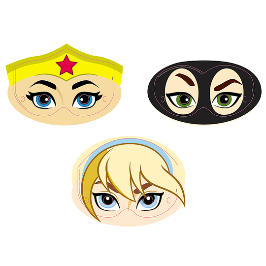 Mascaras Dc Super Hero Girls 6 Uni