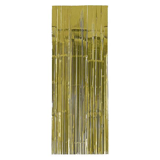 Cortina Metalizada Dorada 240X100Cm 1 Uni