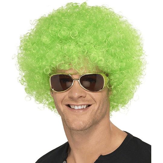 Peluca Super Crespa Verde 1 Uni
