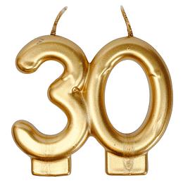 Vela Plateada 30 Años 1 Uni