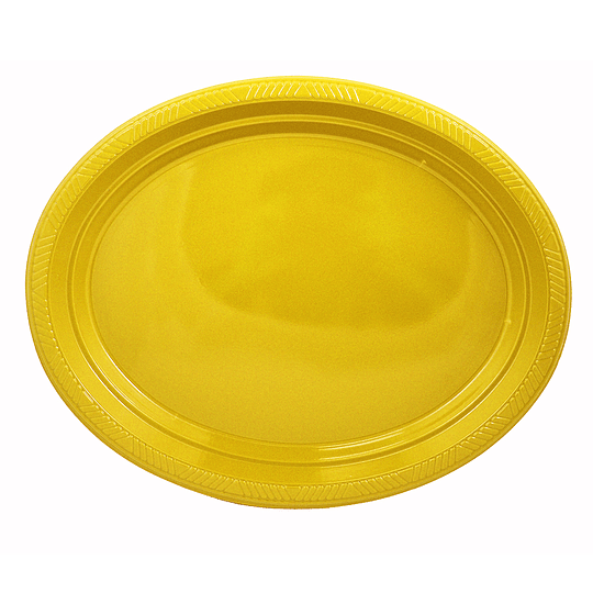 Bandeja Ovalada Amarillo 5 Uni