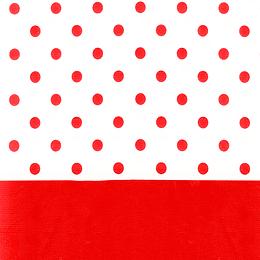 Mantel Puntos Rojo 1 Uni