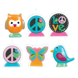 Vela Set Figuritas Love Bird 2D 6 Uni