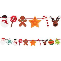 Guirnalda Venados Navidad 1 Uni