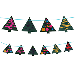 Guirnalda Arbolitos Navidad 1 Uni