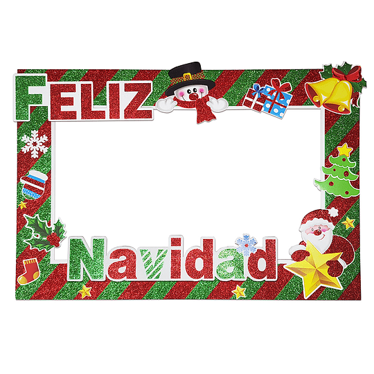 Marco Selfie Glitter Feliz Navidad 1 Uni