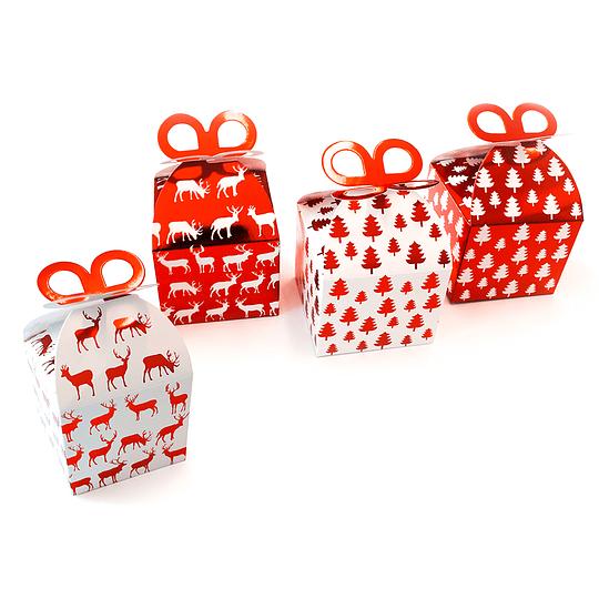 Cajita Navidad Rojo Metal 2 Uni