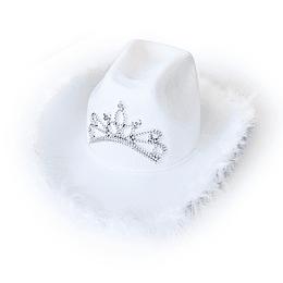 Sombrero Cowgirl Blanco 1 Uni