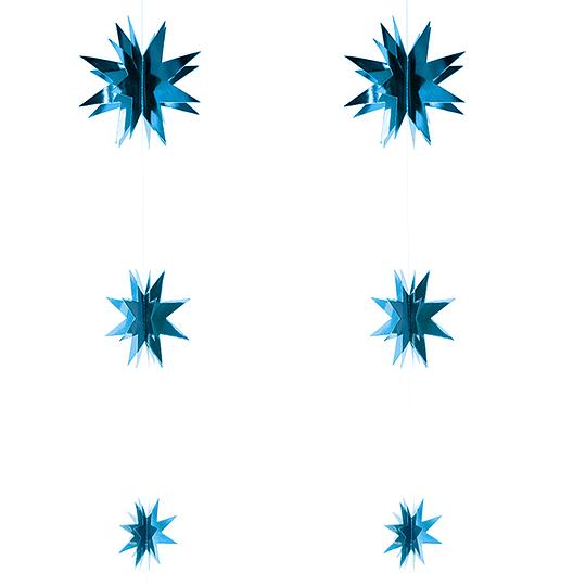 Set 6 Estrellas Colgante Azul 1 Uni