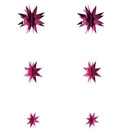 Set 6 Estrellas Colgante Fucsia 1 Uni