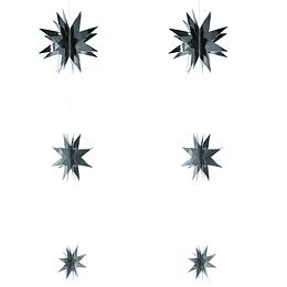 Set 6 Estrellas Colgante Plateado 1 Uni