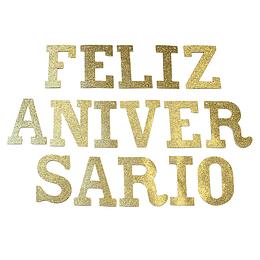 Guir Calada Dorado Feliz Aniversario 1 Uni