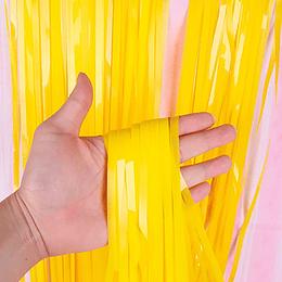 Cortina Amarillo Pastel 240X100Cm 1 Uni