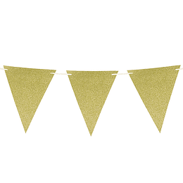 Set 10 Banderines Cart Glitter Dorado 1 Uni