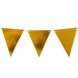Set 10 Banderines Cart Metal Dorado 1 Uni