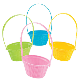 Mini Canastos Plast Colores 4 Uni
