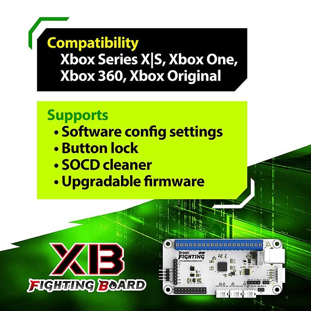 Brook Fighting Board XB - Diseñado para consolas Xbox