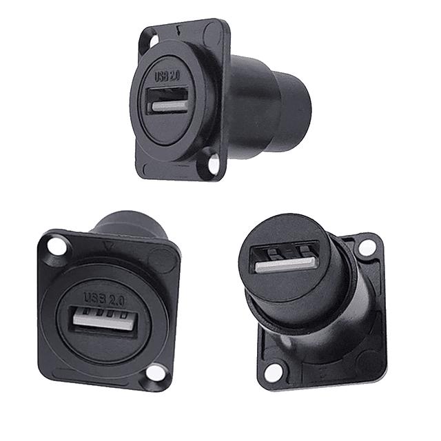 Conector USB 2.0 Panel de montaje