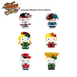 Llavero Street Fighter x Sanrio