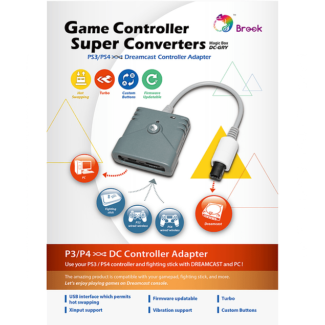 Brook PS3 PS4 a Dreamcast Super Converter