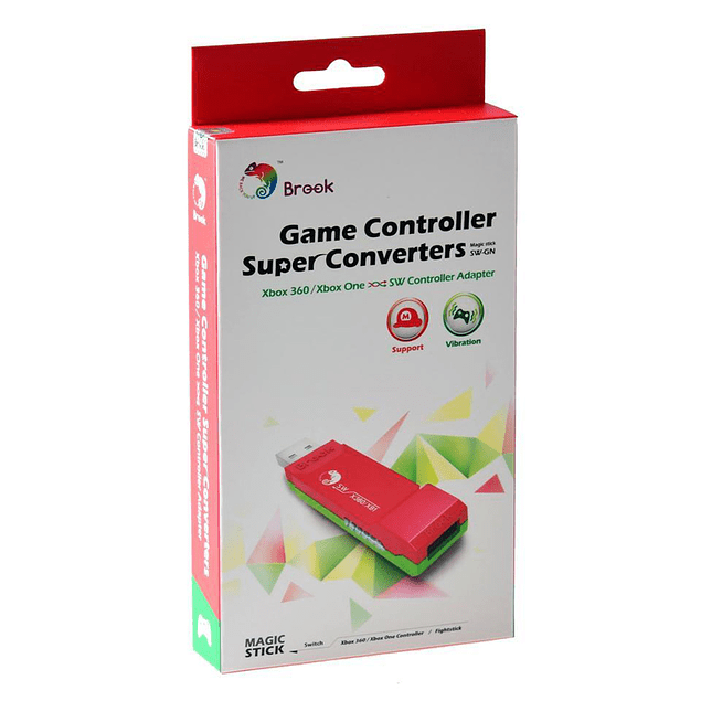 Adaptador Brook Gaming Xbox 360 Xbox One a Nintendo Switch
