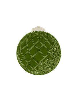 Bolas de Natal - Prato Fruta 24,5 com Pinhas