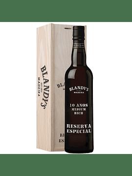 Vinho Madeira Blandy's 10 anos Reserva Especial