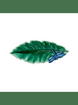 Folhas do Campo – Folha Castanheiro com Libélula 16cm
